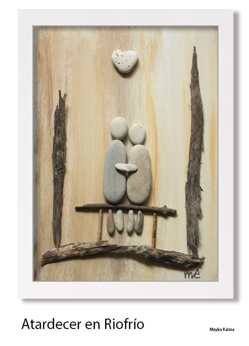 Cuadros de piedras formato verticale mayka kaima artista - Cuadros hechos con piedras ...
